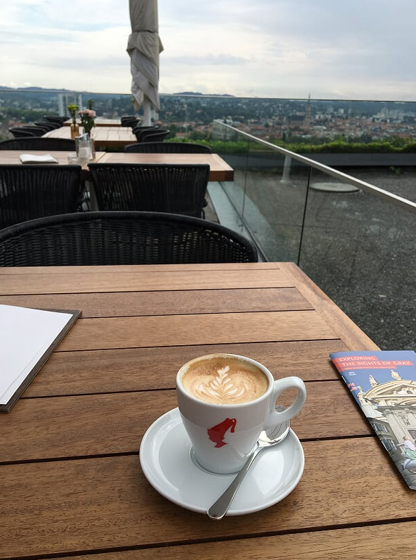 Coffee on top of Graz, Austria